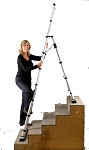 Telesteps 12ES - 12' Climbing Height, Combination Ladder